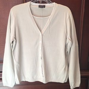 Brooks Brothers NWOT taupe sweater & cardigan